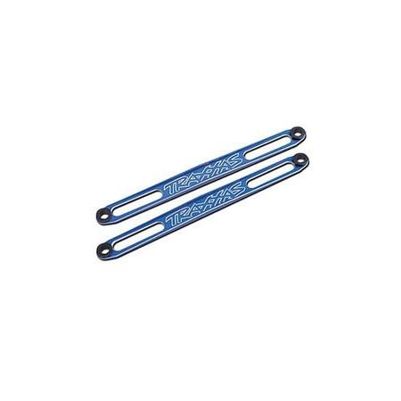 Traxxas 3923X Batterifästen blå aluminium (2)