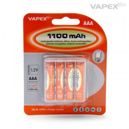 Vapex AAA/R3 Batteri NiMH 1100mAh 4-pack Laddningsbara