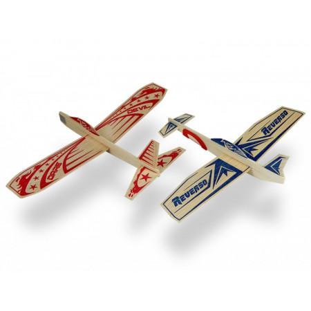 Super Hero Twin Pack Balsa Glidflygplan (24+24)