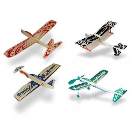 Super Hero Balsa Glidflygplan Sortiment (12+12+12+12)
