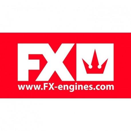 FX Banderoll 200x100cm Röd