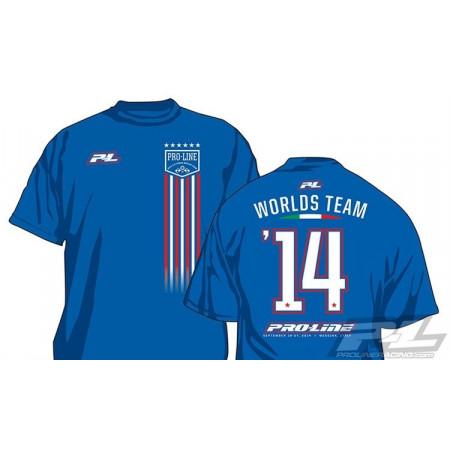 Pro-Line World Championship Blå T-Shirt - Large