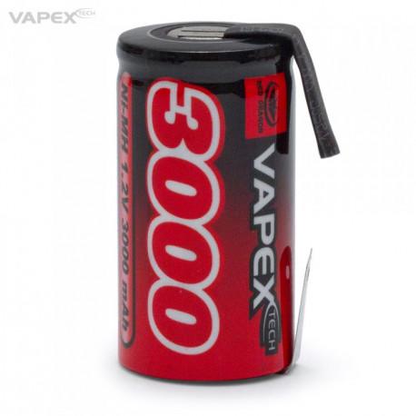 NiMH Batteri 1,2V 3000mAh Sub-C
