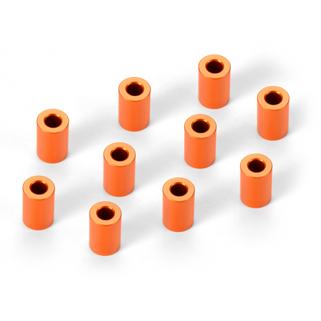 Spacers Aluminium 3x6x9mm Orange (10)