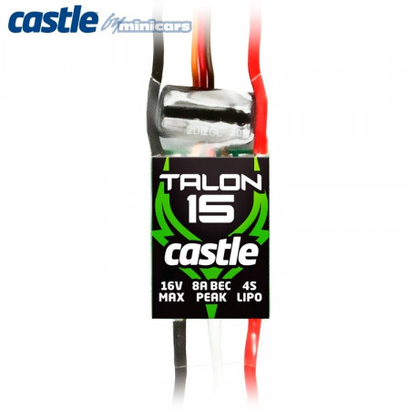 Castle Creations TALON 15 - 2-4S 15A 3A-BEC ESC