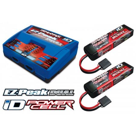 Laddare EX-Peak Dual 8A och 2 x 3S 5000mAh Batteri Combo