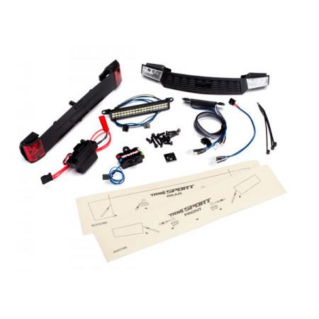 LED Ljus Fram- och Bak Set med Strömförsörj. TRX-4 Sport