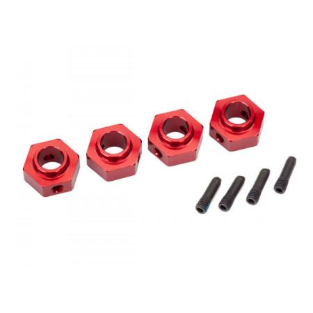 Hjulnav 12mm Aluminium Röd (4) TRX-4