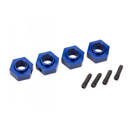 Hjulnav 12mm Aluminium Blå (4) TRX-4