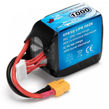 Li-Po Batteri 6S 22,2V 1000mAh 85C XT60-Kontakt