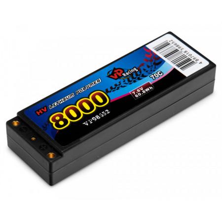 Li-Po Batteri 2S 7,6V 8000mAh 70C EFRA2019