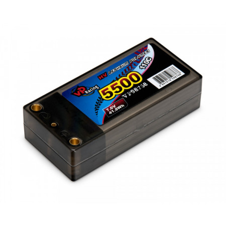 Li-Po Batteri 2S 7,6V 5500mAh 110C Shorty EFRA2019