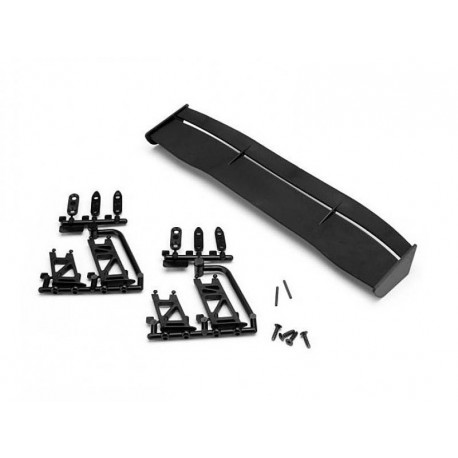 GT WING SET (TYPE E / 10th SCALE / BLACK)