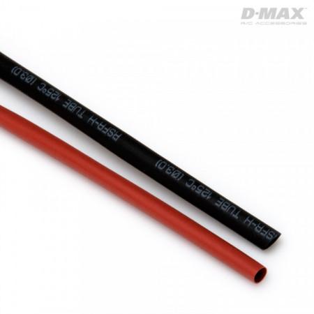 Krympslang Röd & Svart D3mm x 1m