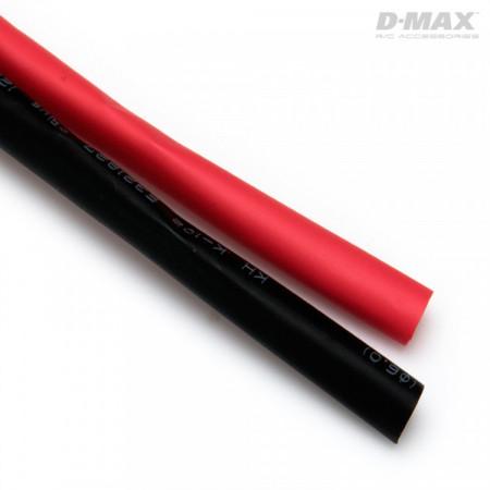 Krympslang Röd & Svart D6mm x 1m
