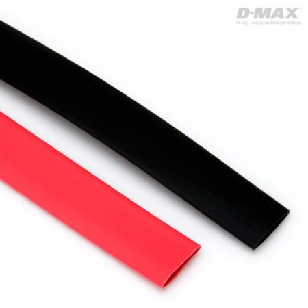 Krympslang Röd & Svart D7mm x 1m