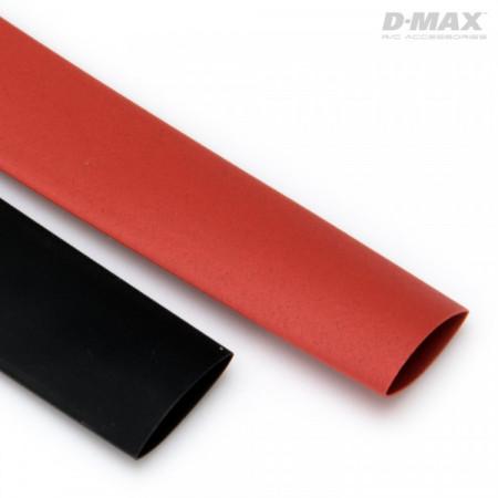 Krympslang Röd & Svart D10mm x 1m