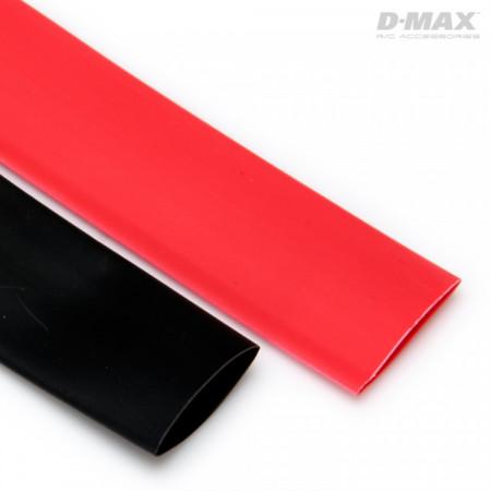 Krympslang Röd & Svart D15mm x 1m