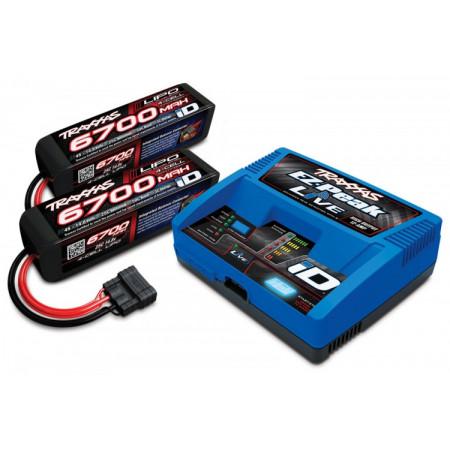 Laddare EX-Peak Live 12A och 2 x 4S 6700mAh Batteri Combo