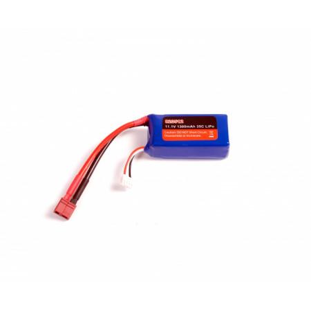 Li-Po Batteri 3S 11,1V 1300mAh 35C T-kontakt