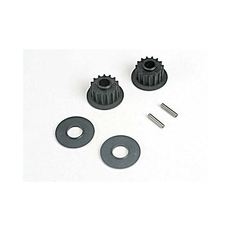 Traxxas 4896 Remhjul 15t/lager/axel set
