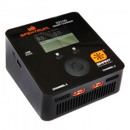 Spektrum Smart S2100 AC Charger 2x100W EU Plug