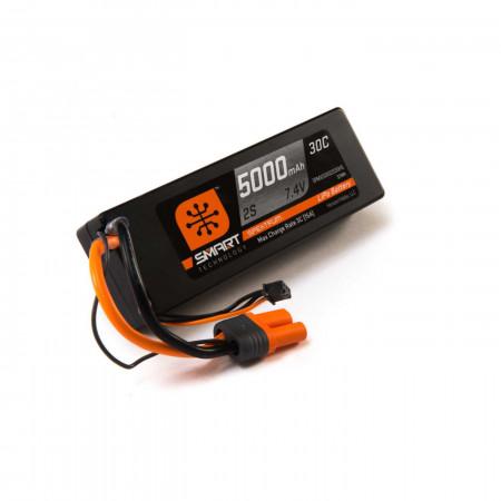 Spektrum 7.4V 5000mAh 2S 30C Smart LiPo Battery, Hardcase, IC5