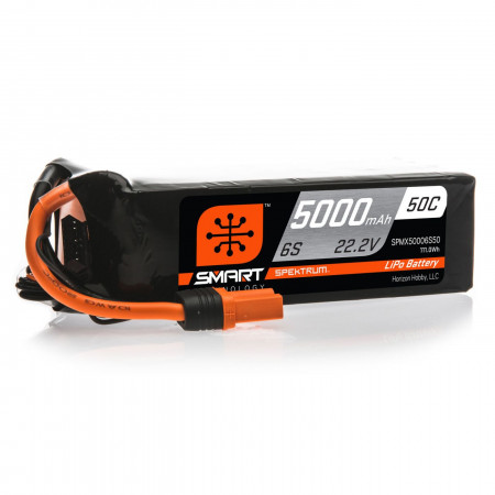 Spektrum 22.2V 5000mAh 6S 50C Smart LiPo, IC5