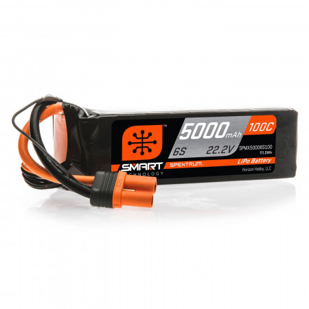 Spektrum 22.2V 5000mAh 6S 100C Smart LiPo, IC5