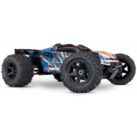 E-REVO Brushless 4WD TQi TSM utan Batt & Ladd Orange