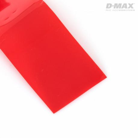 Krympslang Röd Transparent D28/B44mm x 1m