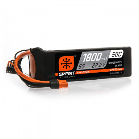 Spektrum 22.2V 1800mAh 6S 50C Smart LiPo, IC3
