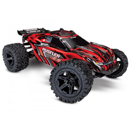 Rustler 4x4 XL-5 1/10 RTR TQ med Batteri & Laddare Röd