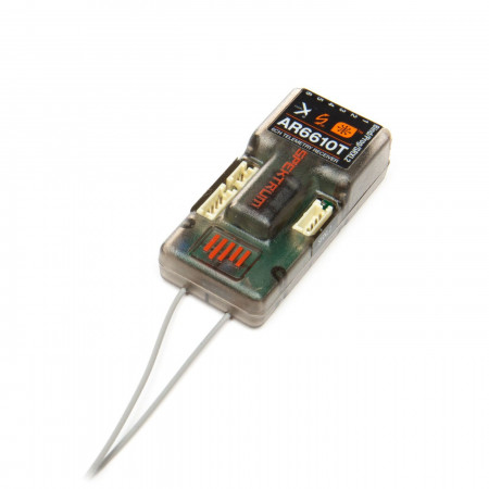 Spektrum AR6610T 6-Channel DSMX Telemetry Receiver