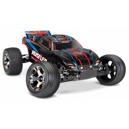 Traxxas Rustler VXL 2WD 1/10 RTR TQi TSM Röd - Utan Batt/Ladd
