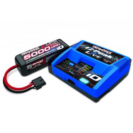 Laddare EZ-Peak Live 12A & 4S 5000mAh Batteri Combo
