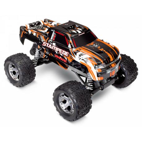 Stampede 2WD 1/10 RTR TQ Orange utan Batt & Ladd