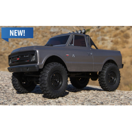 AXIAL 1/24 SCX24 1967 Chevrolet C10 4WD Truck RTR, Silver
