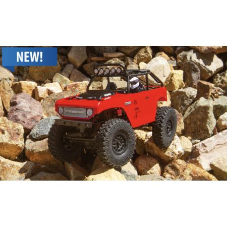 AXIAL 1/24 SCX24 Deadbolt 4WD Rock Crawler RTR, Röd