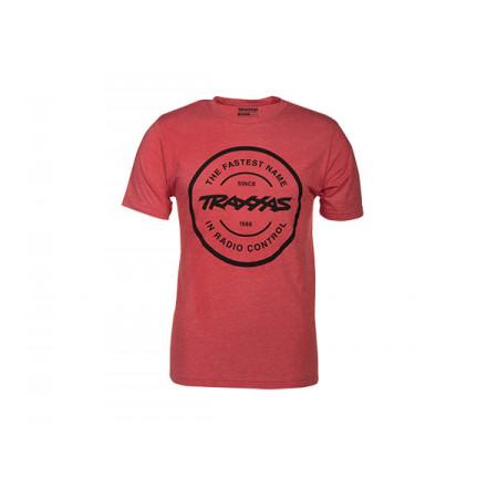 T-shirt Röd Rund Traxxas-logga S (Premium)