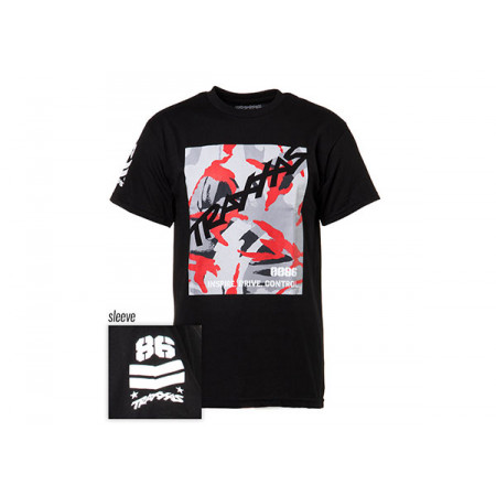 T-shirt Svart Traxxas-logga Camo S*
