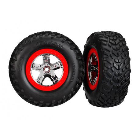 Däck & Fälg SCT S1/SCT Krom-Röd 4WD/2WD Bak TSM (2)