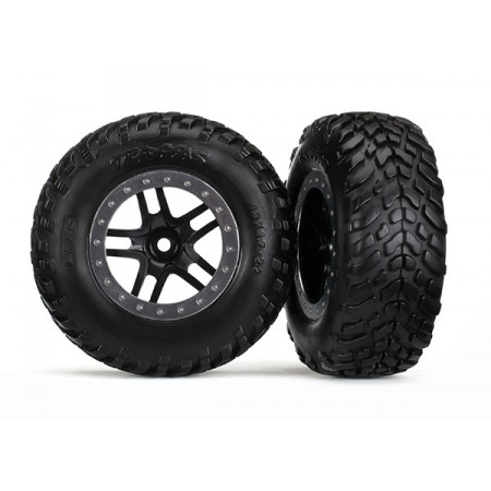 Däck & Fälg SCT/S-Spoke Svart-Matt Krom 4WD/2WD Bak TSM