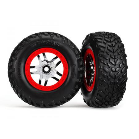 Däck & Fälg SCT S1/S-Spoke Krom-Röd 4WD/2WD Bak TSM (2)
