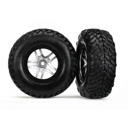 Traxxas 6892R Däck & Fälg SCT S1/S-Spoke Krom-Svart 4WD/2WD Bak TSM (2)