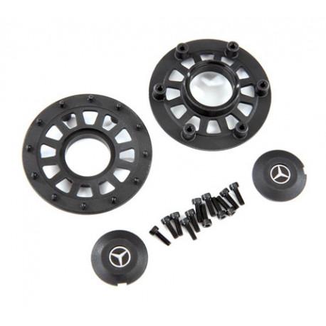Navkapslar / Beadlock Ringar (2+2) (Kräver Hjulaxel 8255A)