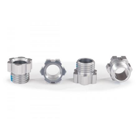 Hjulaxelmutter Alu Silver (4) TRAXX