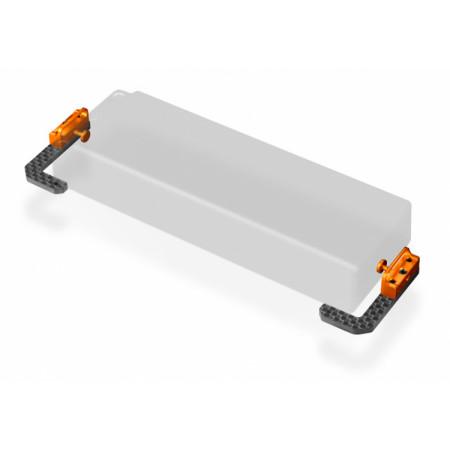 Batterihållare Justerbar Grafit och Alu T4'19