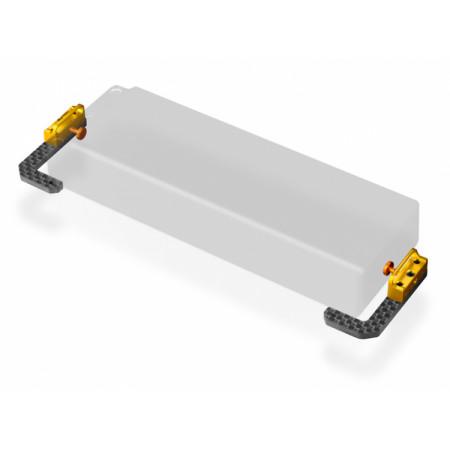 Batterihållare Justerbar Grafit och Mässing T4'19