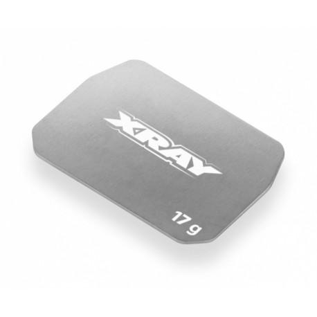 Batteriviktplatta Rostfri 17g Mitten-Fram